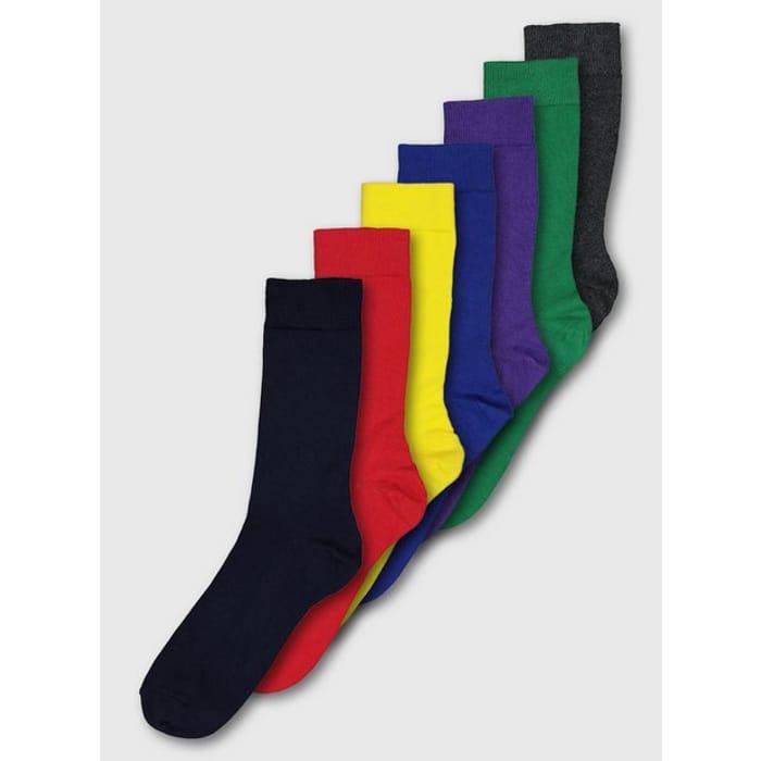 Multicoloured Bright Stay Fresh Socks 7 Pack