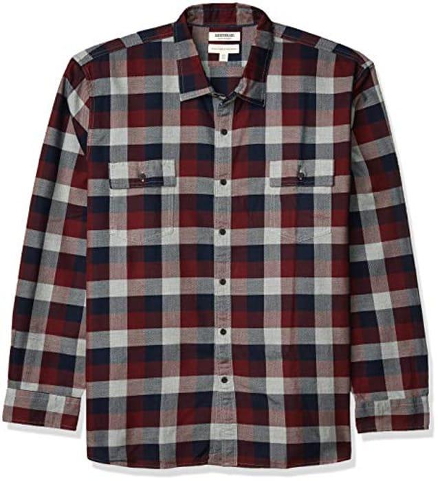 Amazon Brand - Goodthreads Men's Standard-Fit Long-Sleeve Tri-Color Shirt