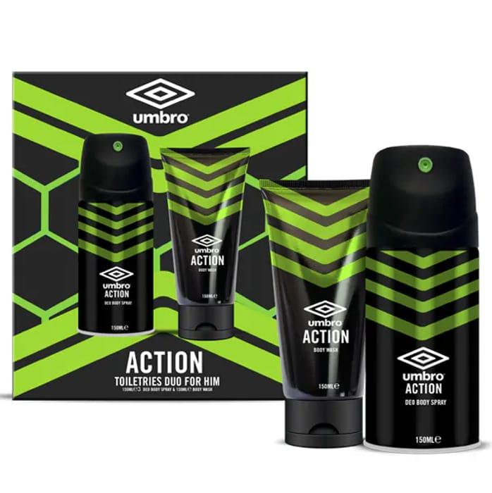 Umbro Action Body Wash & Body Spray Set at Superdrug