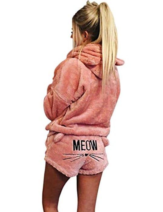 DEAL STACK - Poplover Womens Cute Fleece Pajamas Suit