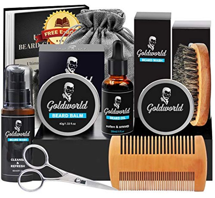GoldWorld Beard Grooming Kit w/E-Book with £10 off Coupon