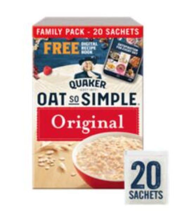 Quaker Oat so Simple Original Porridge 20 Pack