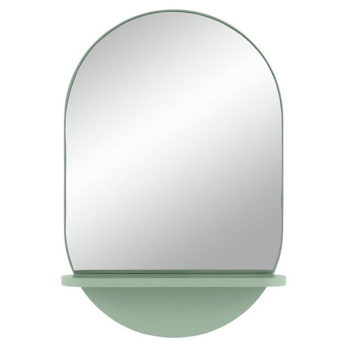 Habitat Freja Mirror with Shelf - Green