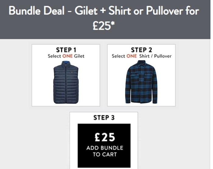 Bundle Deal - Gilet + Shirt or Pullover for £25