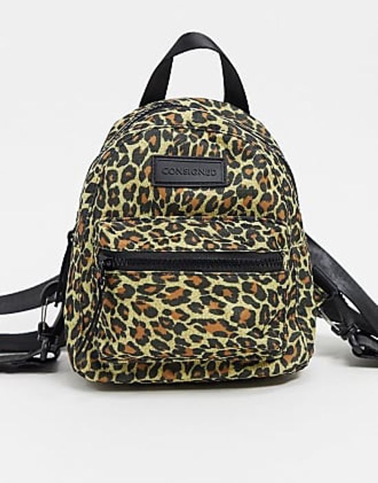 CONSIGNED Small Leopard Print Backpack