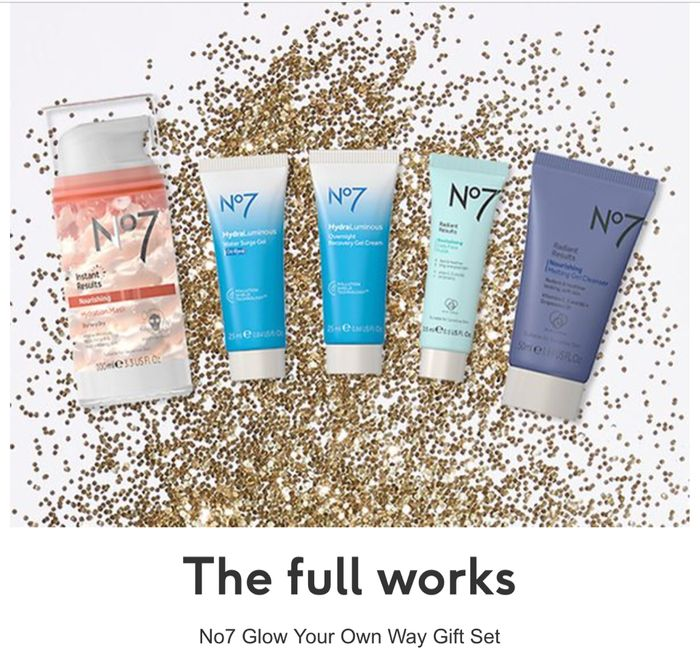 No7 Glow Your Own Way the 5 STEPS to GLOWING SKIN Gift Set