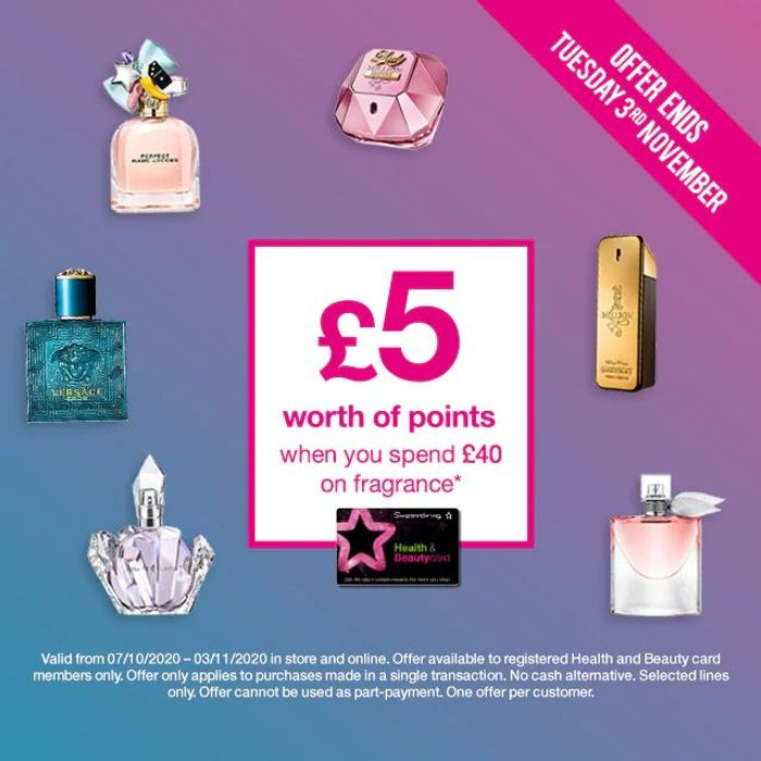 Members Only! £5 of Points When You Spend £40 or More on Fragrance