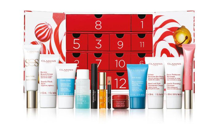 Clarins - '12 Days of Christmas Calendar' Beauty Gift Set worth over £135