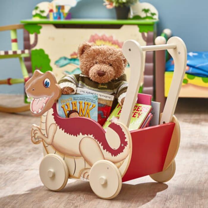 FANTASY FIELDS Red & Cream Dinosaur Kingdom Push Cart