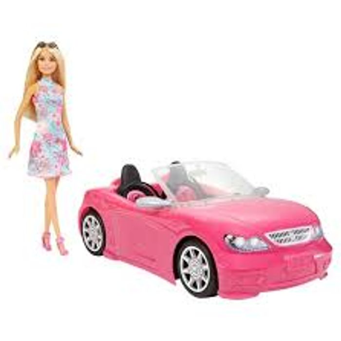 Barbie Convertible Car & Doll - Only £15!