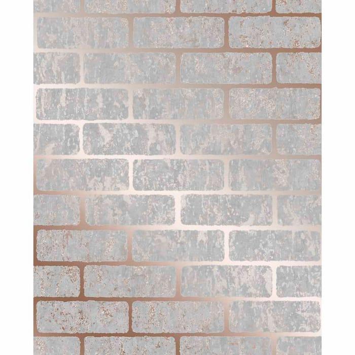 Superfresco Colours Milan Brick Rose Gold Wallpaper - save £4.50