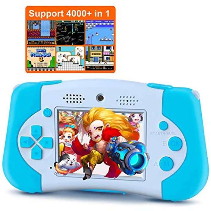 Deal Stack! Kids Camera Handheld Console 4 in 1