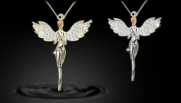 Guardian Angel Necklace with Crystals from Swarovski - 1, 2 or 3