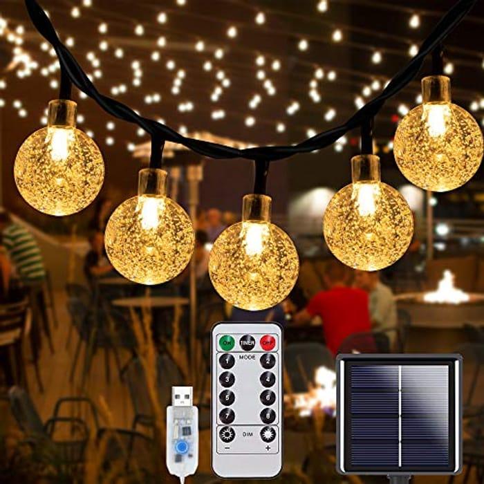 DEAL STACK - 70LEDs Solar String Lights + 20% Coupon