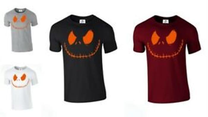 Jack Smiley Scary Pumpkin Halloween T-Shirt