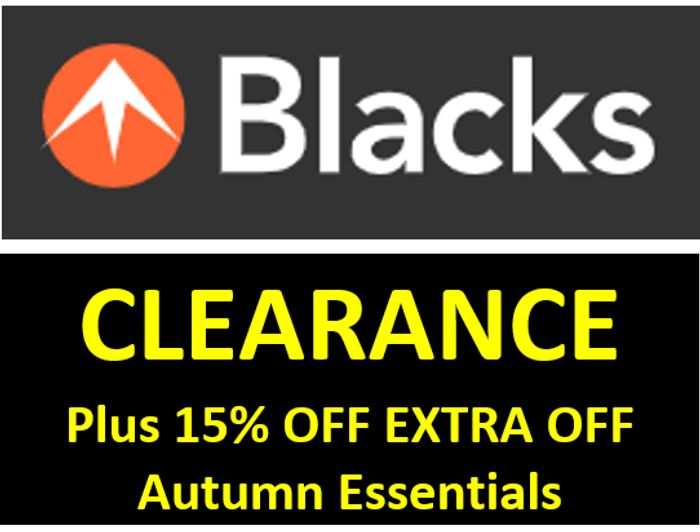 BLACKS CLEARANCE SALE - up to 70% OFF
