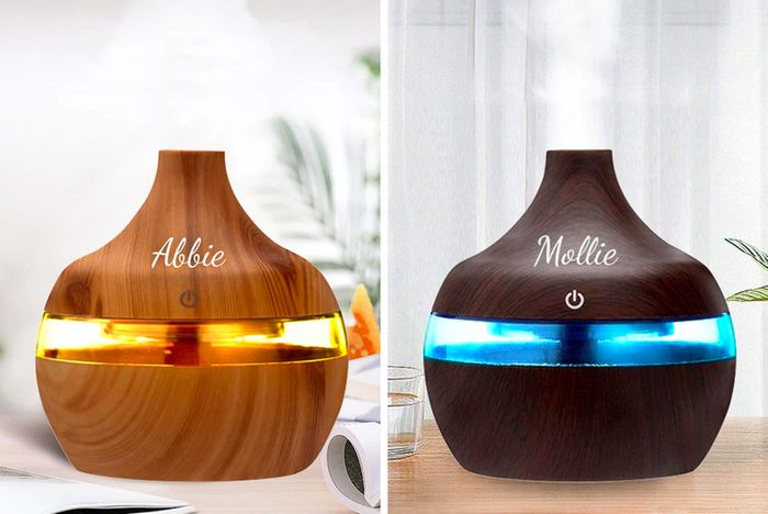 Personalised Aroma Humidifier - Light Brown or Dark Brown