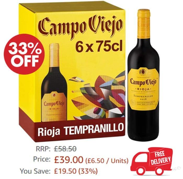 CHEAP! Campo Viejo Rioja Tempranillo, Spanish Soft & Smooth Red Wine