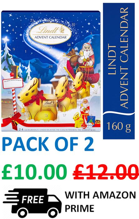 Lindt Milk Chocolate Advent Calendar (2 PACK)