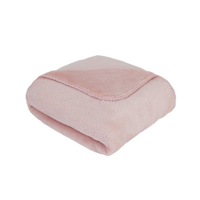 Argos Home Supersoft Fleece Throw - Blush Pink