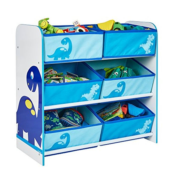 Dinosaurs Kids Bedroom Storage Unit with 6 Bins