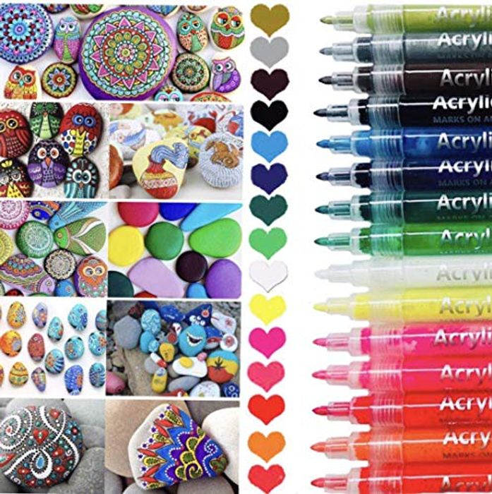 Save 50%- 15 PCS Acrylic Paint Marker Pens Set