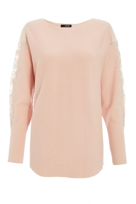 Pink Lace Jumper
