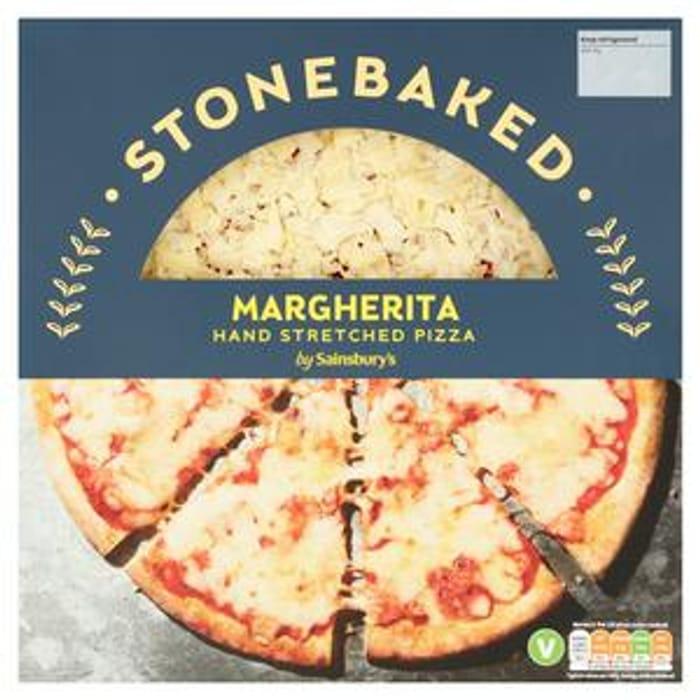 Sainsbury's Stonebaked Margherita Hand Stretched Pizza 265g