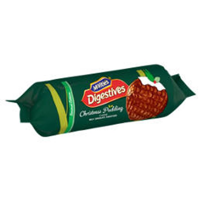 McVitie's Digestives Christmas Pudding Milk Chocolate Biscuits