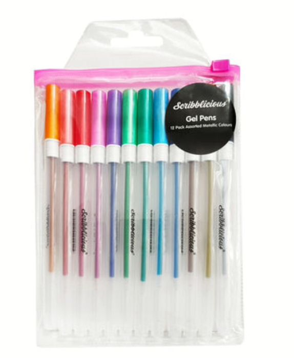 Metallic Gel Pens - 12 Pack