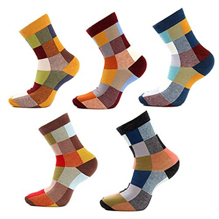 5 Pairs Mens Socks Funky Socks 90% Cotton !!!