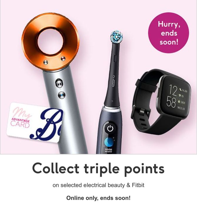 Collect Triple Points on Selected Electrical Beauty & Fitbit