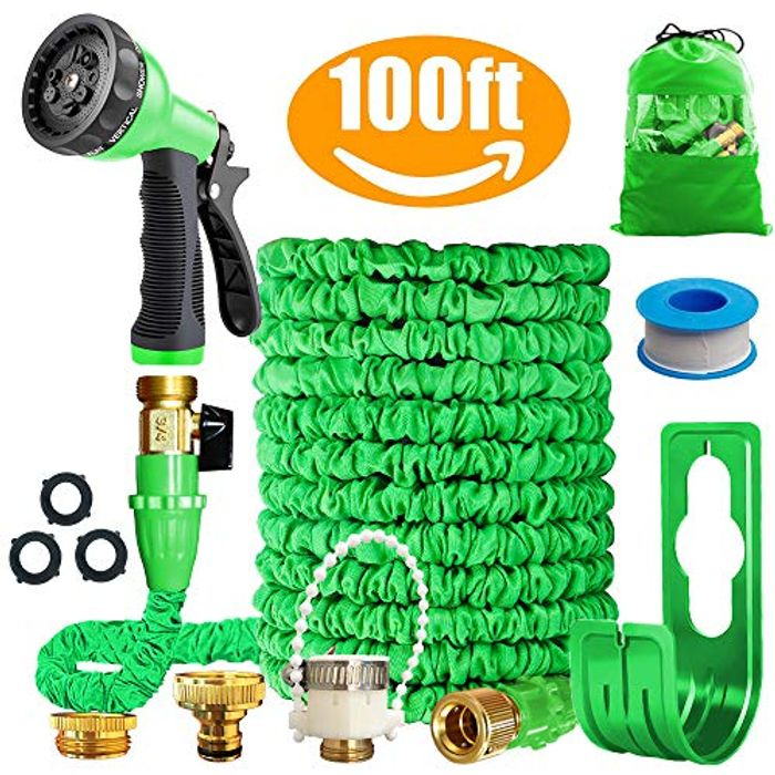 DEAL STACK - Running Bulls 100feet Expandable Garden Hose Pipes + £2 Coupon