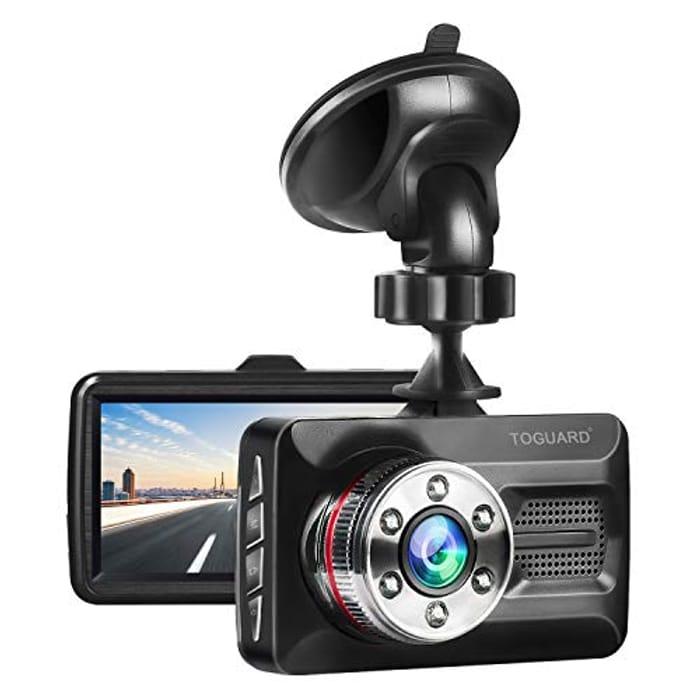 TOGUARD Dash Cam Full HD 1080P Car Camera with £20 off Coupon