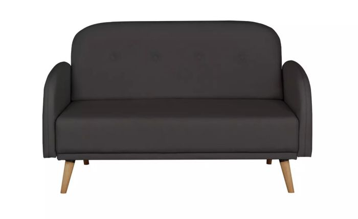 Cheap Argos Home Jemima 2 Seater Fabric Sofa in a Box - Charcoal - Only £125