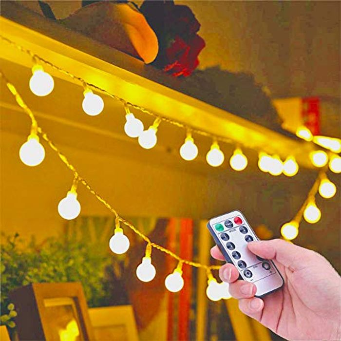 Bulb Fairy Lights with 8 Lighting Modes