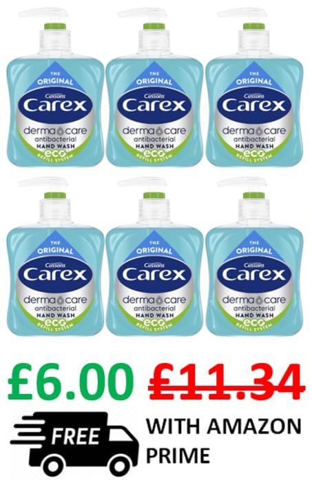 Carex Dermacare Original ANTI-BACTERIAL Hand Wash / Handwash X 6