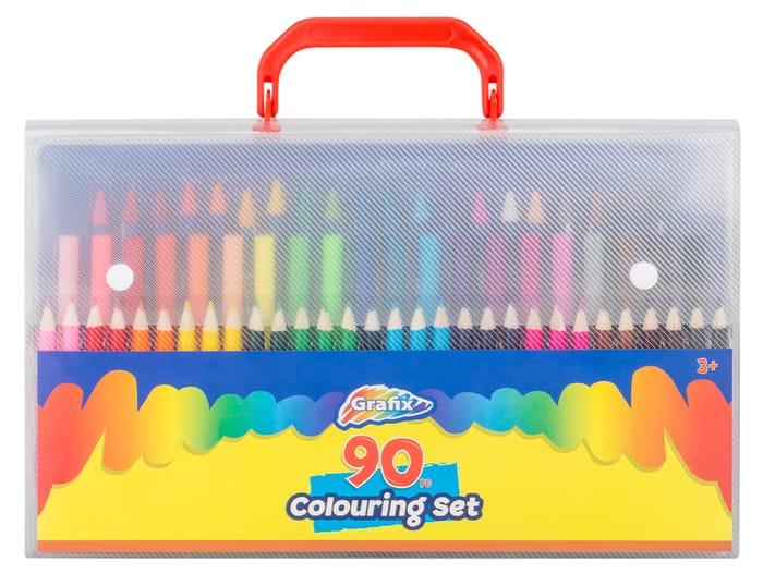 Grafix 90 Piece Colouring Set