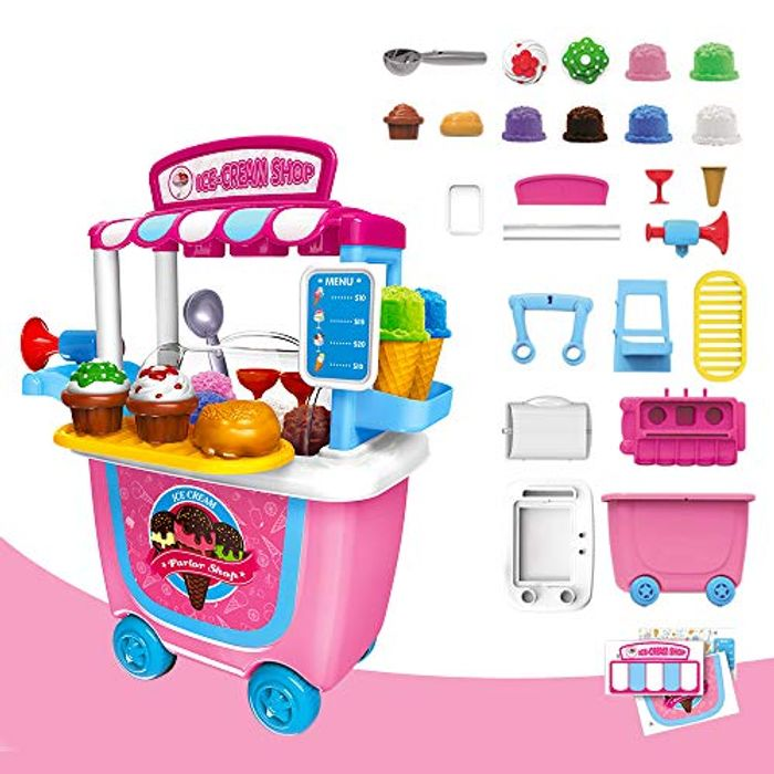 Toy Food Ice Cream Cart
