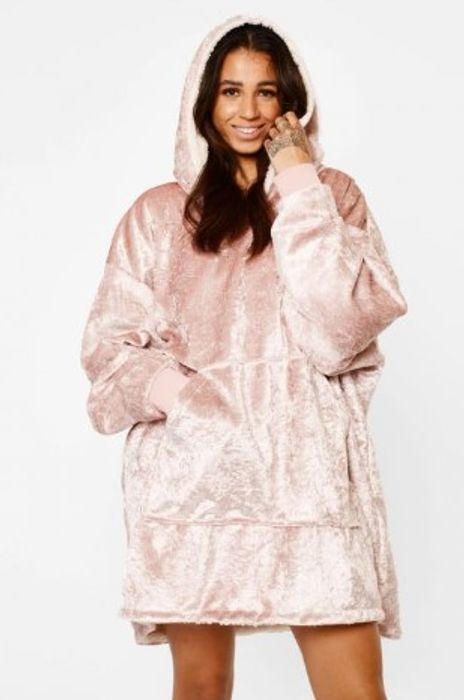 Cheap Sienna Crushed Velvet Hoodie Blanket Only £16.99!