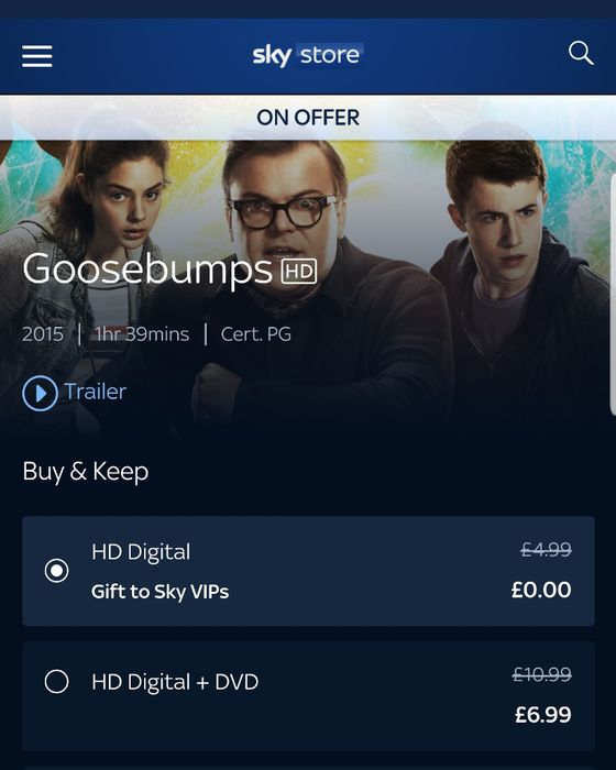 Free Goosebumps Movie to Download for Sky Vips
