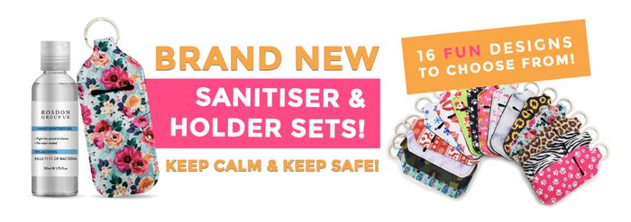 Sanitiser & Holder Sets, Was £9.99 Now £1.99 with Voucher., P&p £2.95