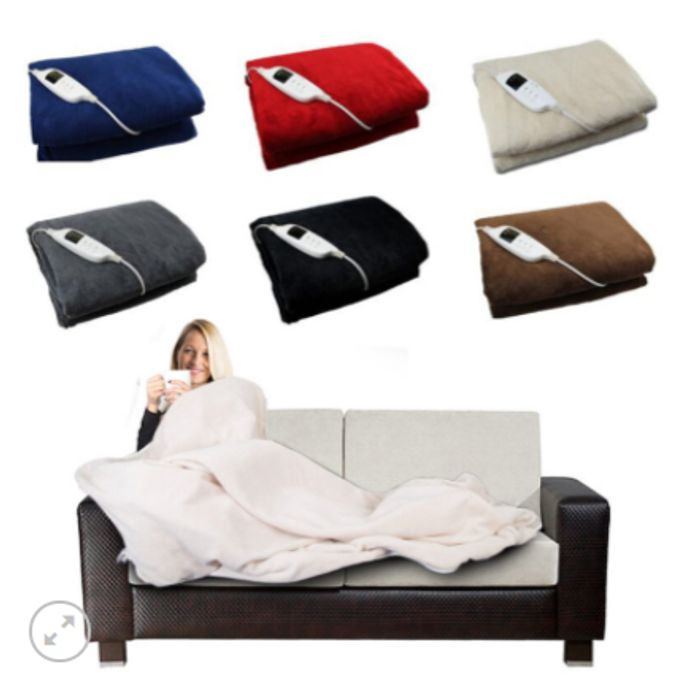 Heated Throw Over Blanket for £30 Delivered