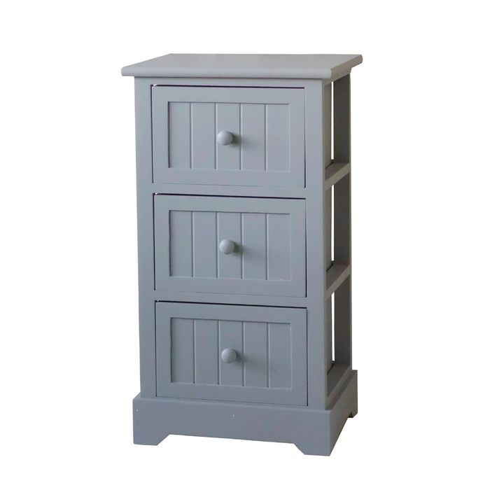 White or Grey Classic 3 Drawer Storage Unit - Only £15!