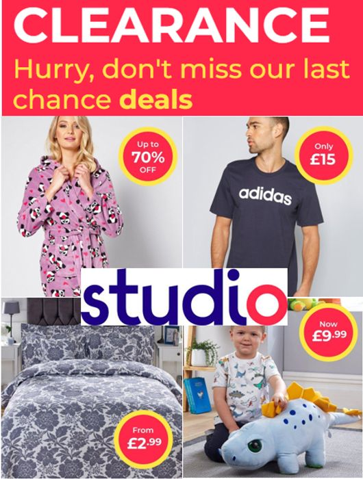 STUDIO CLEARANCE - 650+ Products to Clear