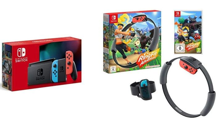 Nintendo Switch Neon + Ring Fit Adventure - Prime Day Flash Deal
