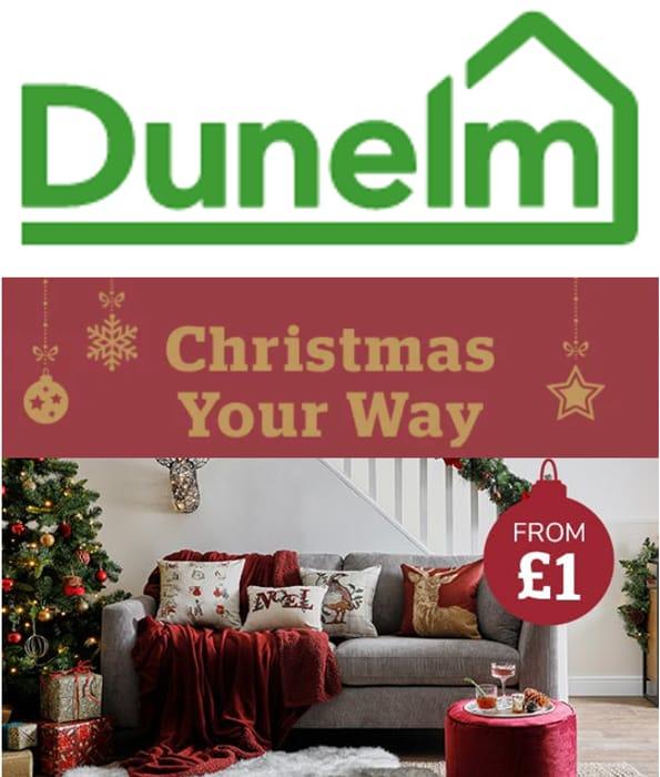 Dunelm - CHRISTMAS SHOP - from £1