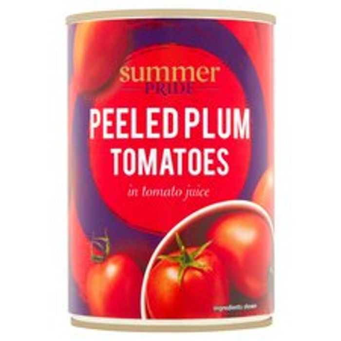 Summer Pride Peeled Plum / Chopped Tomatoes 400G