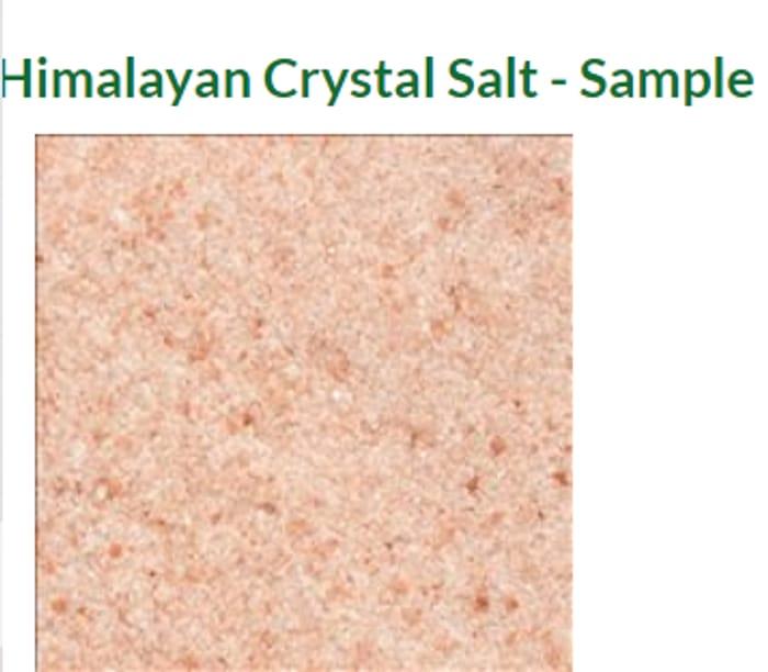 Himalayan Crystal Salt - Free Sample