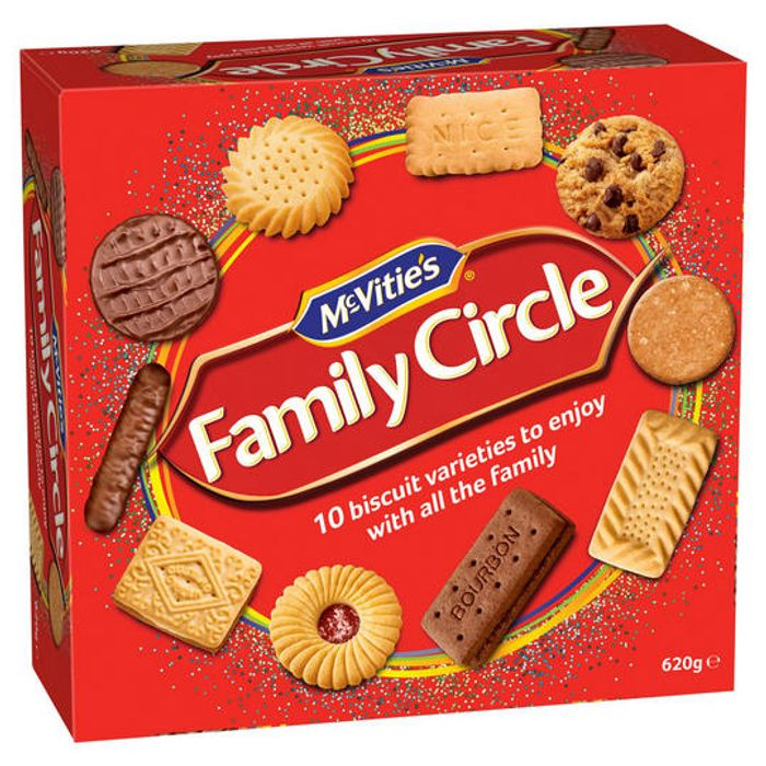 McVities Family Circle Biscuit Assortment 620g 2 for £4